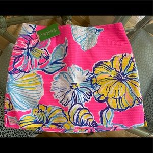 NWT LILLY PULITZER SWEPT BY THE TIDES PINK SKORT